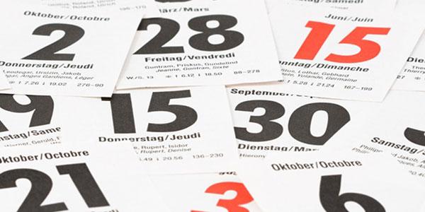 Jours fériés et fêtes légales